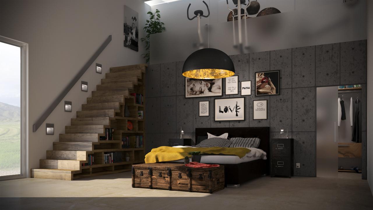 3d visualisatie interieur slaapkamer