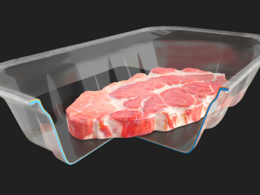 3D Visualisatie PET vleesverpakking