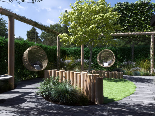 3D visuals en animatie tuinontwerp